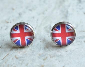 British Flag Earrings Stud Earrings