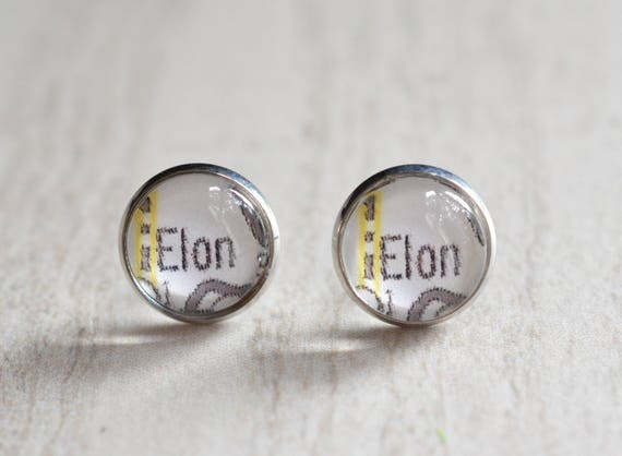 Elon Earrings Stud Earrings Map Earrings North Carolina | Etsy