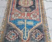 Oushak small rug,Turkish small rug,small rug,Home decor rug,vintage turkish small rug,area small rug,persian small rug,door mat rug,rug