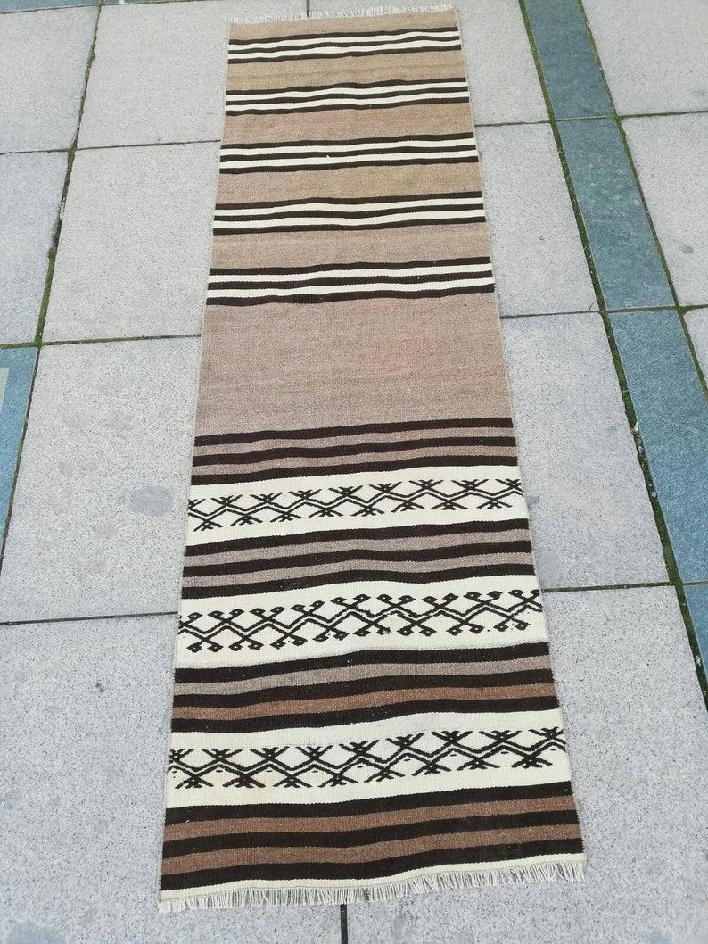 Vintage rug,Oushak runner rug,kilim rug,turkish rug,furniture rug,natural carpet,oushak rug,floor rug,hallway rug,living room rug,runner rug