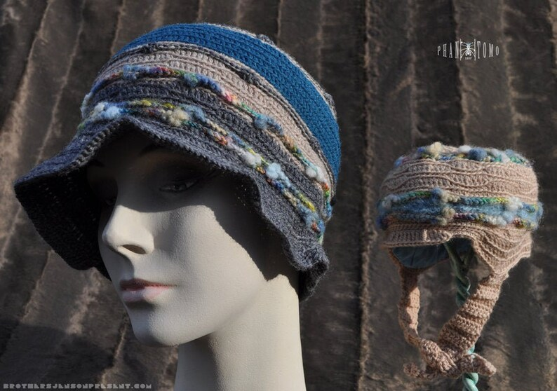 Women's Crocheted Cloche with Infant Helmet Set image 0