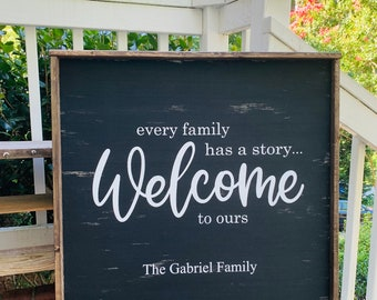 Get Every Family Has A Story – Chalkboard Style Framable Print Crafter Files
