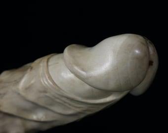 Wood penis 216, erotic art wooden penis sculpture, mature, 18+