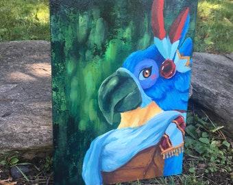 Zelda Acrylic Painting 9x12 inches | Zelda Fan Art | Video game Art | Kass Breath of the Wild