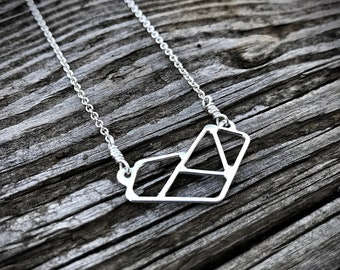 Mak.W // Dear Hearts Collection // Geometric Heart Necklace