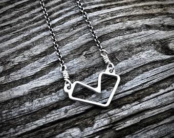 Mak.W // Dear Hearts Collection // Heart Necklace