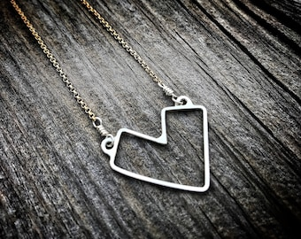 Mak.W // Dear Hearts Collection // Geometric Heart Necklace // Love