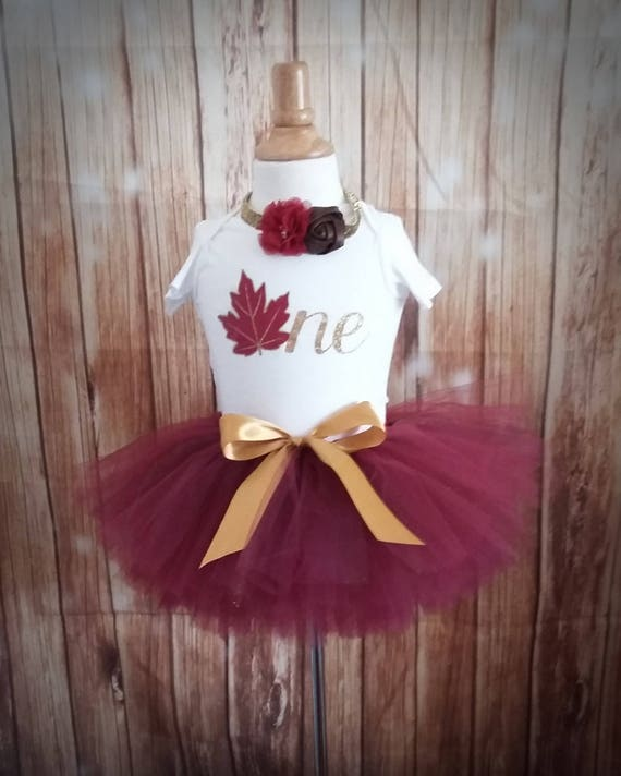 Burgundy Fall 1st Birthday Outfit CUSTOMIZABLE Outfit