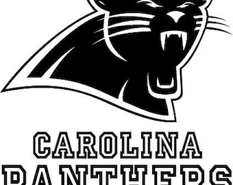 V392 Carolina Panthers Sticker Vinyl Decal NFL Car Truck Window Pick Size
