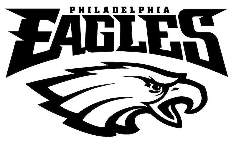 3e4e901a Philadelphia Eagles NFL logo football sticker wall decal 084