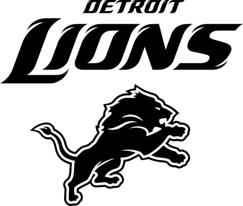 7d24575f Detroit Lions NFL logo decal 050