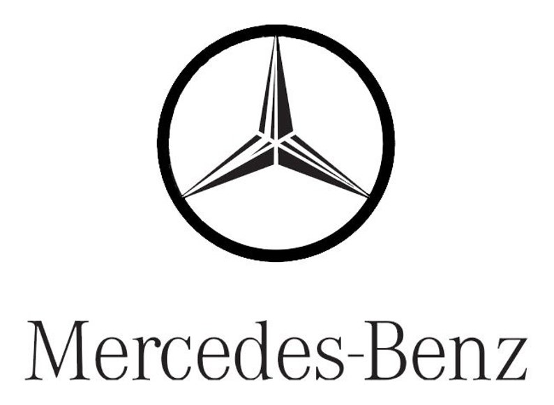 Mercedes Benz Logo Car Garage Dealership Art Sticker Vinyl Etsy