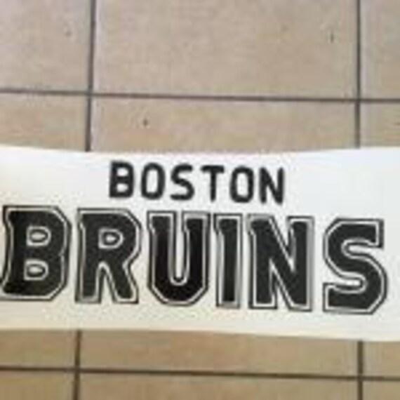 Boston Bruins NHL Team Logo 1Color Vinyl Decal Sticker Car Window Wall