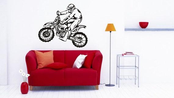 ktm dirt bike extreme sports racing sticker vinyl decal wall | etsy