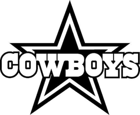 dallas cowboys football team logo wall decal vinyl sticker 040 | etsy  etsy