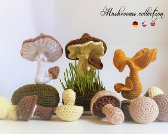 Mushrooms Collection * Pdf file pattern * Easter decorations * Home decor