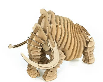 Mammoth 3D Cardboard Puzzle,3D Puzzle Game,Cardboard Puzzle,Cardboard Toy,Cardboard Game,Eco Accessory,Eco Present