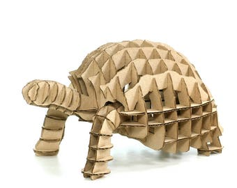 Turtle 3D Cardboard Puzzle,3D Puzzle Game,Cardboard Puzzle,Cardboard Toy,Cardboard Game,Eco Accessory,Eco Present