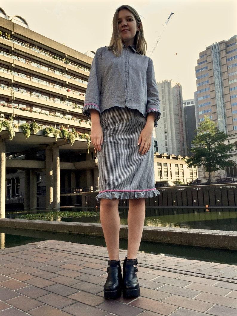 Checkered Suit  James Lakeland suit  Plaid Womens Suit