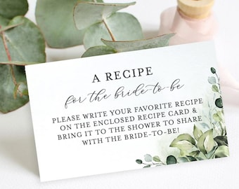 graphic about Free Printable Recipe Cards for Bridal Shower named Recipe bridal shower Etsy