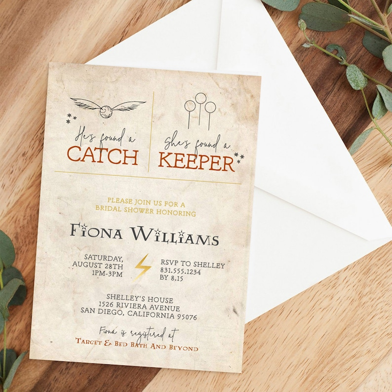 Harry Potter Bridal Shower Invitation Template