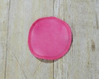 Bubble Gum Pink Cotton Velour Makeup Remover Pads - Single - Face Cloth - Face Scrubbie