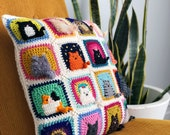 Many Cats Square - Crochet Pattern PDF - Granny Square Afghan Block