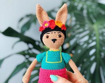 Famous Rabbits - Frida Kahlo - Amigurumi Crochet Pattern PDF