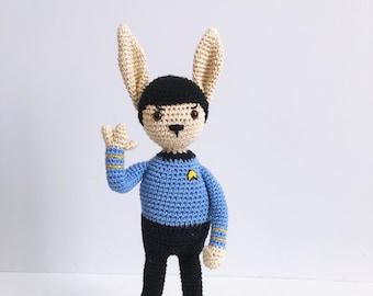 Famous Rabbits - Mr Spock - Amigurumi Crochet Pattern PDF