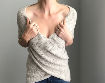 Wrapture Top - Crochet Pattern - EASY - Adjustable size - Instant PDF Download