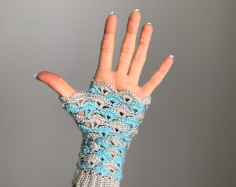 Shell We Dance? Fingerless Gloves - Crochet Pattern - PDF - One Size