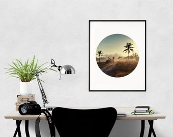 Tropical Art Print, Palm Trees Poster, Summer Decor, Tropical Wall Art, Holiday Photography, Tropical Print, Palm Trees Photo,  A4, A3
