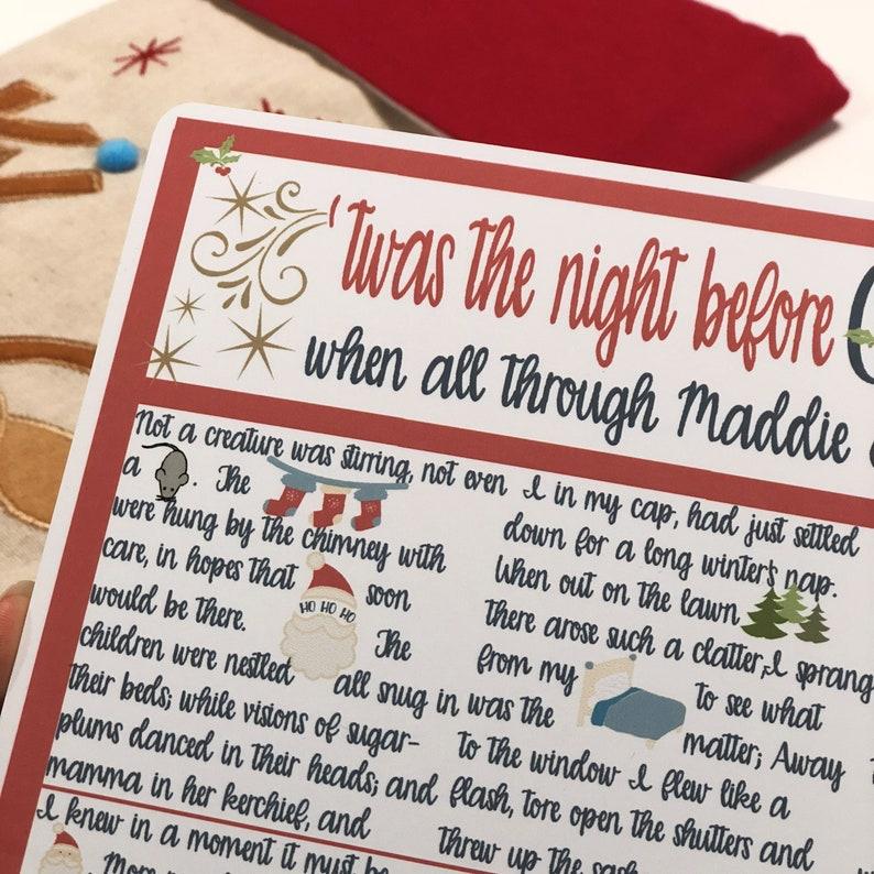 Christmas eve story personalised christmas poem Twas The Night Before Christmas Personalised Story Christmas Eve christmas story