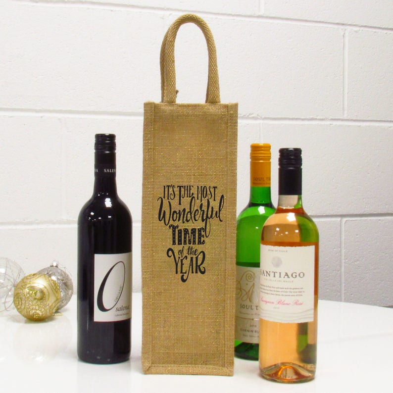 Wedding Birthday Hessian Wine Bottle Gift Bags with Drawstring for Holiday Party Halloween Christmas Irich 12 Pack Jute Wine Bags Mixed