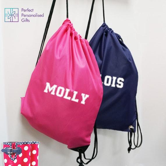 Personalised Girls Gymnastics Dream Sport Gym School PE Swim Ballet Dance Bag!