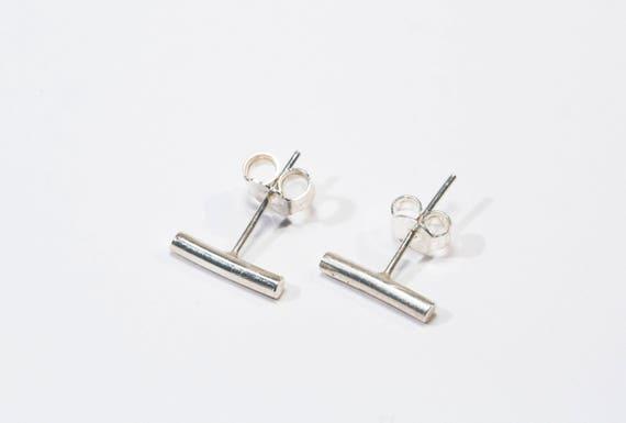 Orecchini minimalisti argento 925 orecchini barra etsy for Essere minimalisti