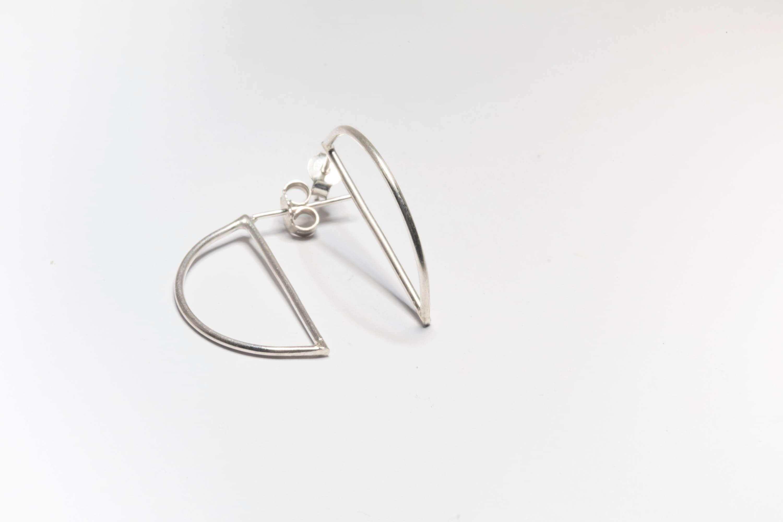 Orecchini minimalisti argento 925 orecchini geometrici etsy for Essere minimalisti