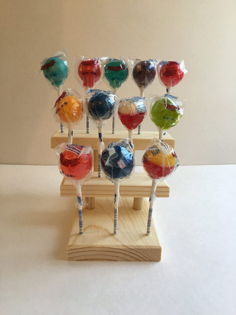Cake Pop Display  Lollipop Sucker Holder  3 Tier  Holds 12  Cake Pop Lollipop Stand