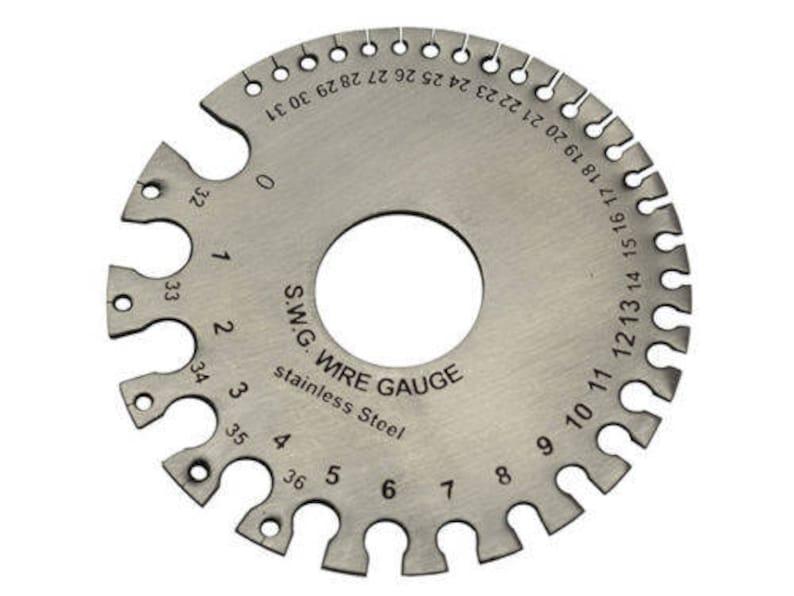 Steel Wire Gauge   Stainless Steel Swg Wire Gauge Measure Wire Thickness Sheet Etsy