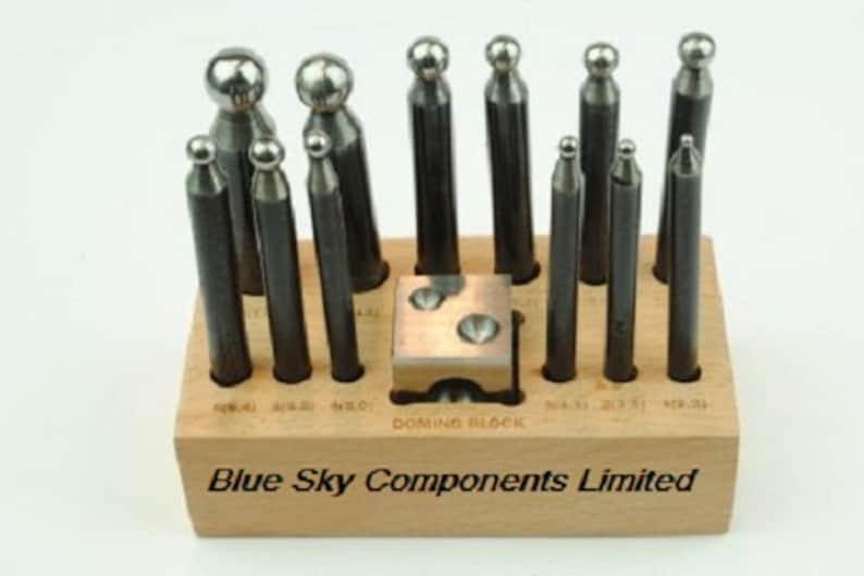 cd816b4a739d Domingo conjunto 13 pieza joyeros herramienta de sólido acero 11.5 2.3 mm  en el soporte con el bloque de