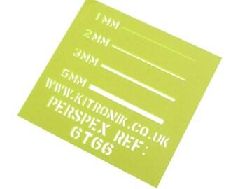 Green Fluorescent Perspex Sheet 3mm x 297mm x 210mm (A4)