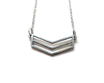 Minimlist geometric stainless steel necklace