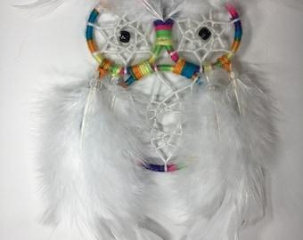 Rainbow Owl Dreamcatcher