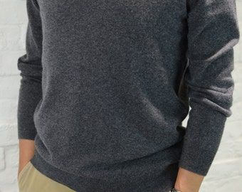Mens 100% Pure Cashmere Pullover