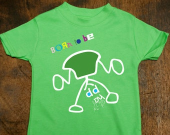 Green Football T Shirts For Kids Playing Football Born To Be Etsy