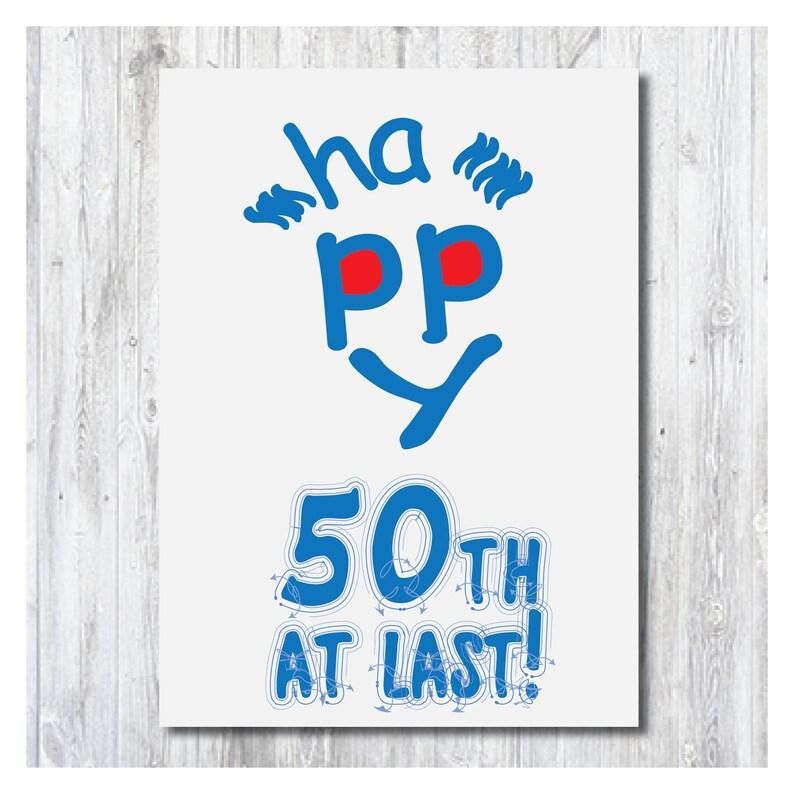 Happy Birthday Card Funny 50th 50