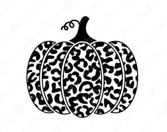 Leopard Pumpkin Svg Etsy