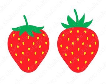 Strawberry Svg Files Etsy