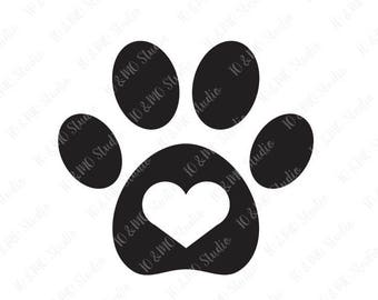 Paw SVG, Dog Paw Svg, Cat Paw Svg, Cat Paw Clipart, Paw Print SVG, SVG Files, Cricut, Silhouette Cut Files