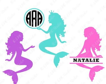 Mermaid svg | Etsy